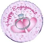 engagement ring with pink around it