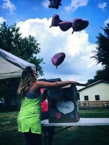 pink balloon reveal