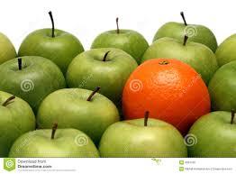 orange among apples