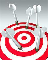 target with many arrows